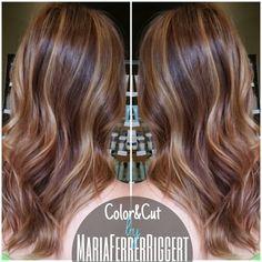 | Maria Ferrer Riggert | Master Hair Stylist | Follow me : http://instagram.com/maria.ferrerriggert | balayage highlights, balayage, blonde hair, blonde highlights, midlength hair, midlength hairstyle, midlength haircut, wavy hair, soft waves, honey highlights, caramel highlights, warm blonde hair, #avedacolor, aveda color, aveda, aveda stylist