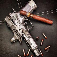 by @aradivojevic #cigarsandguns #cigars #guns #botl #cigarporn #gunporn #2a #sundayfunday #sundaygunday #pewpewpew