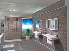 Bathroom design with Noken #sanitaryware #basins #bathroom #taps