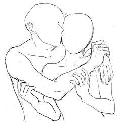 kiss, couple pose