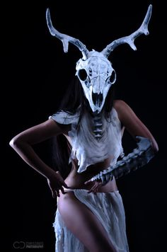 Deer Skull Mask Bone Mask Made to Order by Oonacat on Etsy