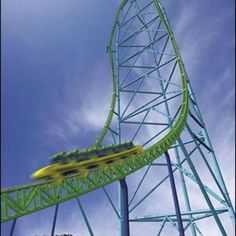 Kingda Ka - Six Flags New Jersey. Tallest coaster in the world with a vertical drop. The coaster launches you from 0 to in 3 seconds. Fastest Roller Coaster, Roller Coaster Ride, Roller Coasters, Six Flags Great Adventure, Greatest Adventure, Amusement Park Rides, Abandoned Amusement Parks, Jackson, Kingda Ka