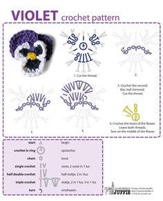 Crochet Violet - Chart ❥ 4U // hf
