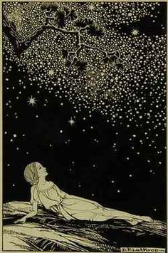 Dorothy Lathrop 1891 - 1980 Stars, 1930, ink on illustration board, approx 13 x 10 inches. Illustration for Sarah Teasdale, Stars Tonight, New York: Macmillan Company, 1930. Private...