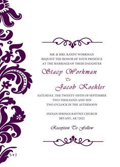 wedding invitation templates invitations wedding formal wedding