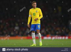 Neymar of Brazil - Brazil v Uruguay, International Friendly, Emirates Stadium, London (Holloway) - November 2018 International Neymar Images, Neymar Jr Hairstyle, Champions League Predictions, Neymar Barcelona, Neymar Jr Wallpapers, Neymar Psg, Neymar Brazil, Moving To Barcelona, Uruguay