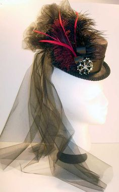 SOLD - 19th Century Top Hat of the Old West SteamPunk Steam Punk Clothing