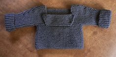 mama knits: garter baby sweater