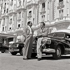 TWO WEEKS IN ANOTHER TOWN (1962) -  Washed-up actor (Kirk Douglas) accepts a minor European movie role with old director friend (Edward G. Robinson) in hopes of personal & professional redemption - Based on novel by Irwin Shaw - Directed by Vincente Minelli - MGM - Publicity Still.