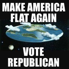 Make American flat again. Vote Republican