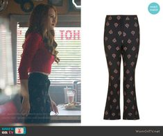 Cheryl's printed trousers on Riverdale.  Outfit Details: https://wornontv.net/84328/ #Riverdale