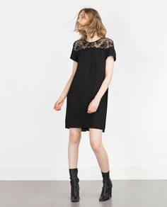 Image 1 of COMBINED GUIPURE DRESS from Zara