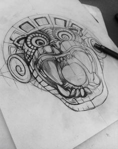 Discover recipes, home ideas, style inspiration and other ideas to try. Mayan Tattoos, Mexican Art Tattoos, Hand Tattoos, Aztec Warrior Tattoo, Jaguar Tattoo, Aztec Symbols, Tatoo Designs, Mexico Art, Aztec Art