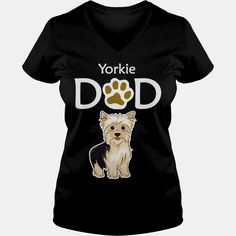 Yorkie Yorkshire Terrier Grandpa Dad Father Papa Men Man Guy Boy Dog Lover, Order HERE ==> https://www.sunfrogshirts.com/Black-Ladies-V-Neck-Yorkie-Yorkshire-Terrier-Grandpa-Dad-Father-Papa-Men-Man-Guy-Boy-Dog-Lover-564210612.html?29538, Please tag & share with your friends who would love it, border terrier puppy cute, border terrier puppy for sale, border terrier puppy training #crafts #illustrations #posters #christmasgifts #xmasgifts #birthdaygifts #bestfriend #giftsegment #girl..