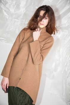 #MARCELA #Fall #Winter #2014 #CucuLab #Woman #Coat #Boiled #Wool  Available now at http://www.cuculab.it/prodotto/546/MARCELA.html#leaf