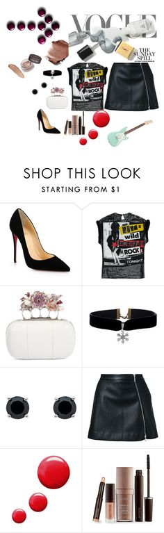 """Untitled #141"" by julianneolivera ❤ liked on Polyvore featuring Christian Louboutin, Alexander McQueen, Monet, Guild Prime, Topshop and Laura Mercier"
