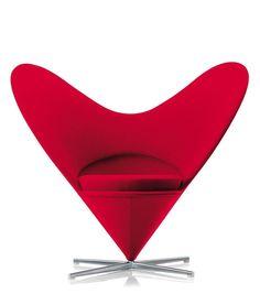Panton Heart Cone Chair 1959
