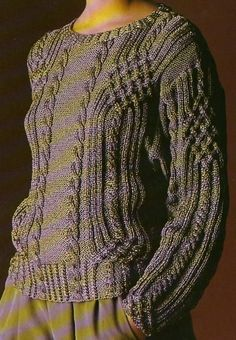 [Tricot] The intertwined Irish sweater - Equinorev Handmade - - [Tricot] Le pull irlandais entrelacé [Tricot] The Interlaced Irish Sweater - The Knitting and Creative Leisure Shop - Aran Knitting Patterns, Knit Patterns, Baby Knitting, Filet Crochet, Knit Crochet, Knit Jacket, Knitwear, Sweaters, Clothes