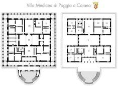 Plan of Villa Medici (1485 CE) Poggio a Caiano