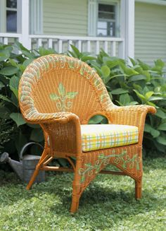 Beau Beautiful Design Ideas For Painting Wicker Chairs