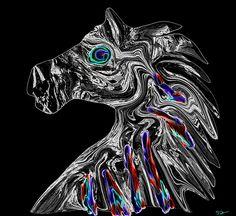 Warrior Horse with Jewels by Abstract Angel Artist Stephen K Alien Artist, Real Genius, Digital Art, Lion Sculpture, Angel, Horses, Statue, Jewels, Wall Art