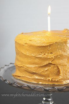 The BEST caramel frosting EVER.  I've never tried caramel before, very easy.