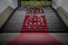 ひなまつり =  March 3rd is Doll Festival Day, the traditional Japanese festival held to wish girls both health and growth.