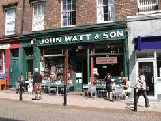 Carlisle, Cumberland, England.  John Watt & Son tea and coffee.
