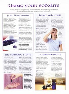 Mind, Body, Spirit Collection - Using Your Sodalite Crystal Healing Stones, Crystal Magic, Crystal Grid, Crystals And Gemstones, Stones And Crystals, Gem Stones, Reiki, Wiccan Crafts, Crystal Meanings