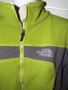 The North Face Summet series Zip Up Fleece jacket womens size M, Green/Gray #TheNorthFace #FleeceJacket