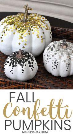 DIY Confetti Pumpkins for Fall Decor!