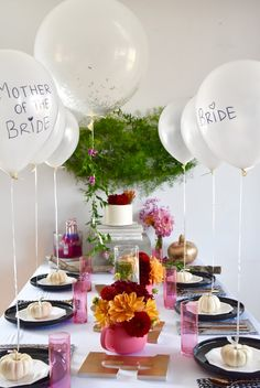 #Fall #BridalShower Place Settings