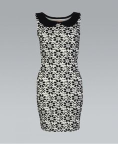 Black And White 60's Style Peter Pan Shift Dress