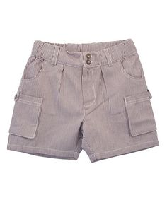 Take a look at this Cacao Stripe Pocket Organic Shorts - Toddler & Boys by Serendipity Organics on #zulily today!