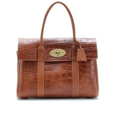 i do really like mulberry bags - this bayswater being croco-embossed leather #bagporn