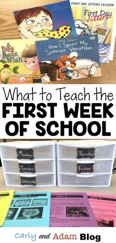 What Should You Teach during the First Week of School? — Carly and Adam