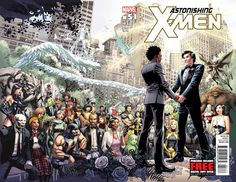 X-Men gay wedding is here. What do you get the couple that has mutated chromosomes?