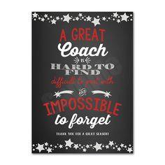Coach Appreciation Thank You Card Printable by jennifertownsend
