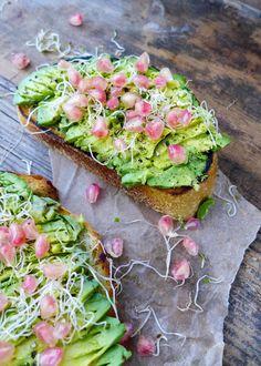 pomegranate avocado toast.
