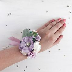 Red and Purple Wedding Ideas to Consider – MyPerfectWedding Lilac Wedding Flowers, Summer Wedding Bouquets, Plum Wedding, Prom Flowers, Flower Bouquet Wedding, White Flowers, Prom Corsage And Boutonniere, Bridesmaid Corsage, Corsage Wedding