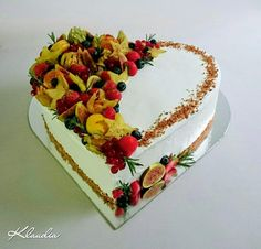 Ovocné srdce , Inšpirácie na originálne Drip torty Tortas Deli, Fresh Fruit Cake, Galaxy Cake, Mexican Party, Cake Decorating Techniques, Creative Cakes, Amazing Cakes, Vanilla Cake, Chocolate Cake