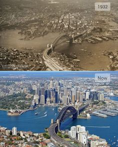Sydney in 1932 compared to now...