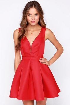 Roll of the Bo-Dice Red Dress at Lulus.com!