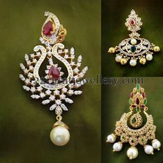 Jewellery Designs: Chandbalis from Musaddilal Jewellers