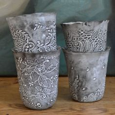 Valérie Casado Porcelain Cups - Grey – Swoon Lounge