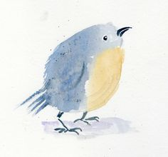 The Toymaker's Journal: Watercolor Birds and Fish-Cute