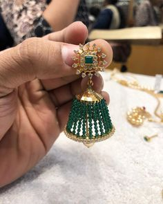 <br> vanasthalipuram ngos colony opposite to kotak mahindra bank. Gold Jhumka Earrings, Jewelry Design Earrings, Gold Earrings Designs, Gold Jewellery Design, Bead Jewellery, Necklace Designs, Gold Jewelry, Beaded Jewelry, Ear Jewelry