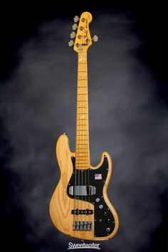 Fender Marcus Miller Jazz Bass V - Aged Natural | Sweetwater.com. 5-string Electric Bass with Ash Body, Maple Neck and Fingerboard, Two Single-coil Pickups, and Active Electronics - Natural
