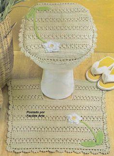 Crochet bathroom set ♥️LCB-MRS♥️ with diagrams ---- Facilite Sua Arte: Jogo de Banheiro 3 - Tampo do Vaso