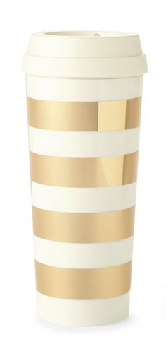 Gold stripe thermal mug http://www.theperfectpalette.com/2015/11/holiday-gift-guide-golden-gifts-yes.html